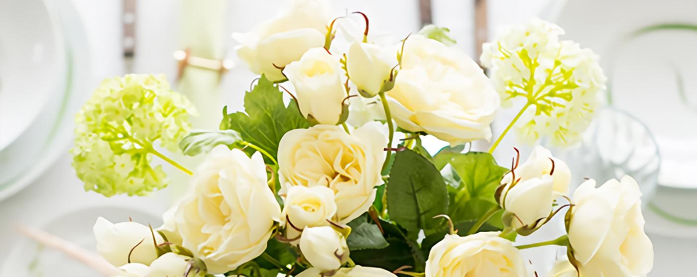 淡い黄色のバラの花の画像