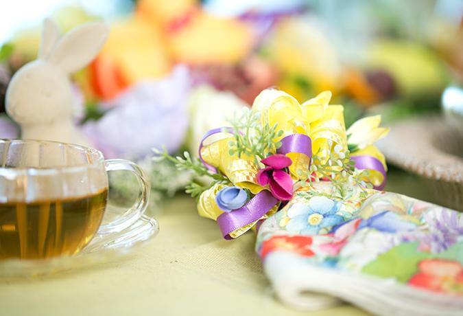お花のナプキンの画像