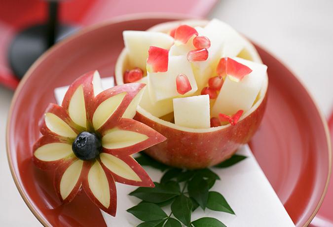 りんごのデザートの画像