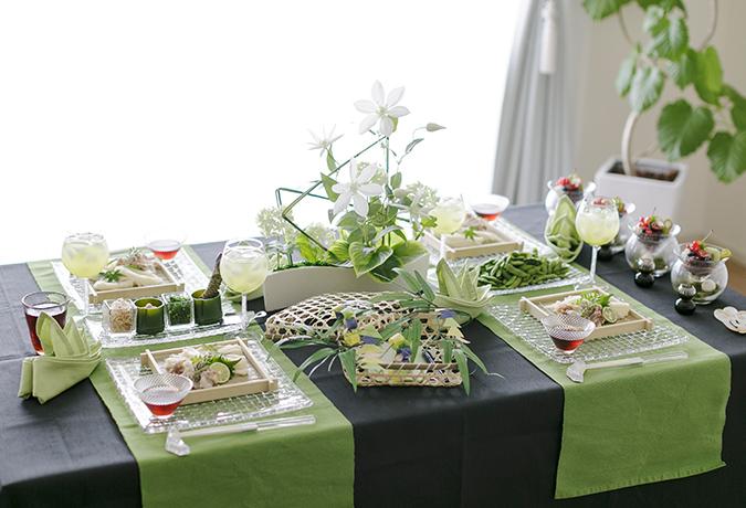 七夕のテーブルコーディネートの画像