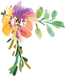 紫のお花のイラスト